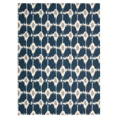 Elaine Navy Area Rug Rug Size: Rectangle 26 x 4