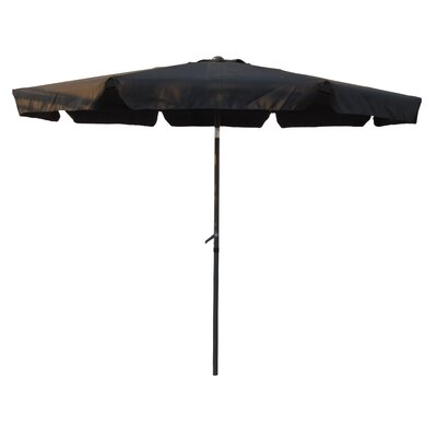 10' Hartland Drape Umbrella Fabric: Black