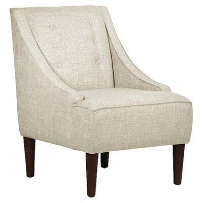 Taos Button Swoop Slipper Chair Upholstery: Zuma Vanilla