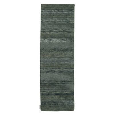 Meadow Hand-Loomed Blue Area Rug Rug Size: Runner 23 x 76