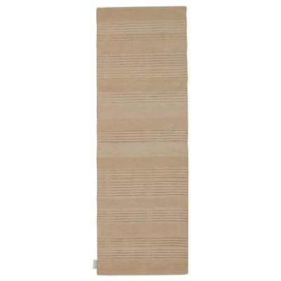 Meadow Hand-Loomed Bone Area Rug Rug Size: Runner 23 x 76