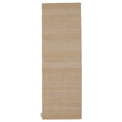 Meadow Hand-Loomed Bone Area Rug Rug Size: Runner 23 x 76