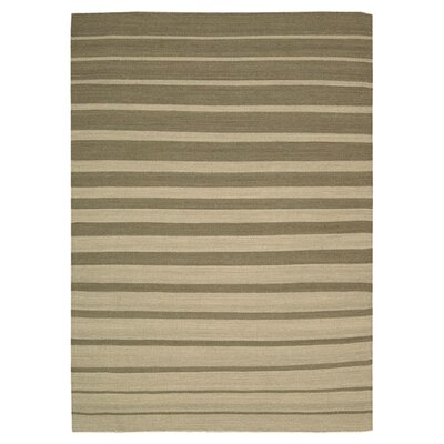 Gradated Tawny Stripe Area Rug