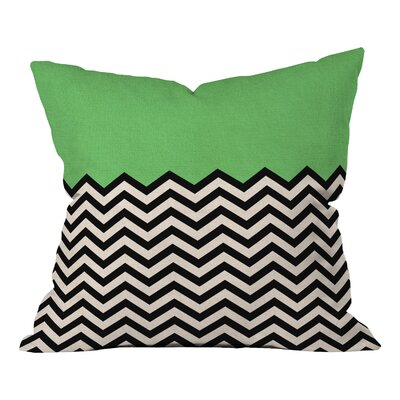Bianca Green Indoor/Outdoor Throw Pillow Color: This Way, Size: 20 H x 20 W