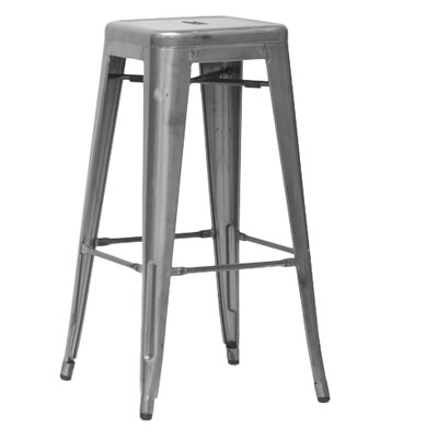 Baxton Studio 30.5 Bar Stool Finish: Gun Metal