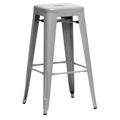 Baxton Studio 30.5 Bar Stool Finish: Silver