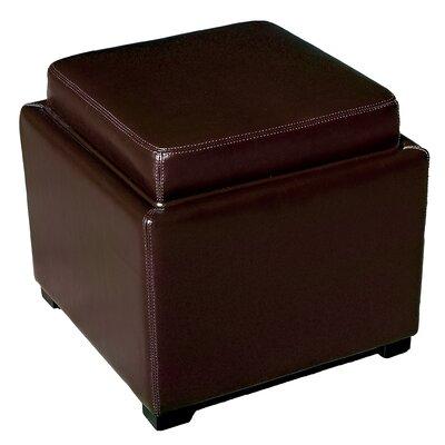 Spicer Storage Ottoman Upholstery: Dark Brown