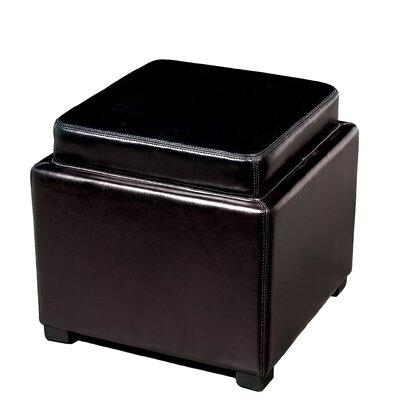 Spicer Storage Ottoman Upholstery: Black