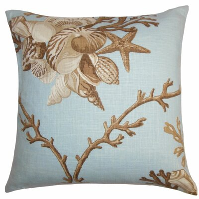 Maj Coastal Throw Pillow Cover Color: Blue Brown