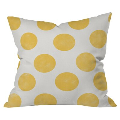 Spring Dots Outdoor Throw Pillow Size: 16 x 16