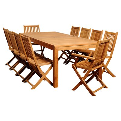 11-piece Amazonia Teak Dining Set