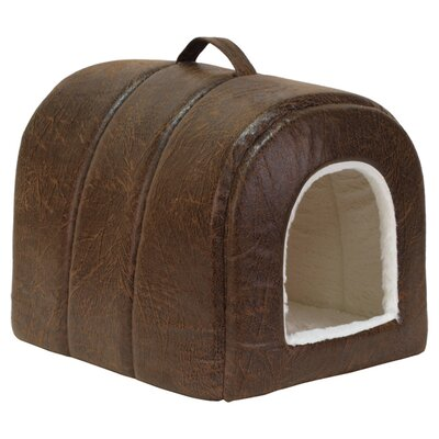 Pet Igloo Faux Leather Cat Bed