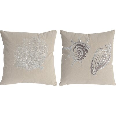 2 Piece Marina 100% Cotton Throw Pillow Set