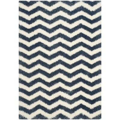 Kimberley Ivory/Blue Area Rug Rug Size: Rectangle 4 x 6
