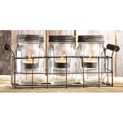 Moriah Mason Jar Candleholder 4543
