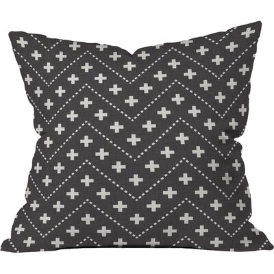 Dash and Plus Outdoor Throw Pillow Size: 18 H x 18 W