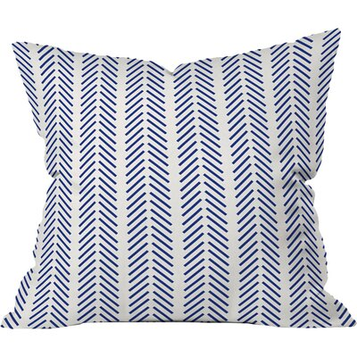 Nautical Lines Throw Pillow Size: 16 x 16