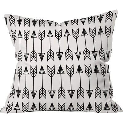 Arrows Outdoor Throw Pillow Size: 18 H x 18 W