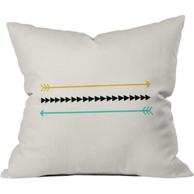 Minimal Arrows Outdoor Throw Pillow Size: 16 x 16