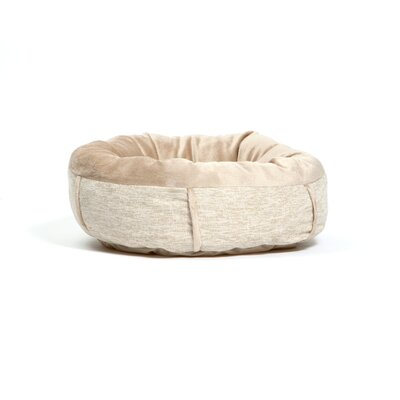 Milly Pet Bolster Size: Small (18 W x 18 D), Color: Oatmeal