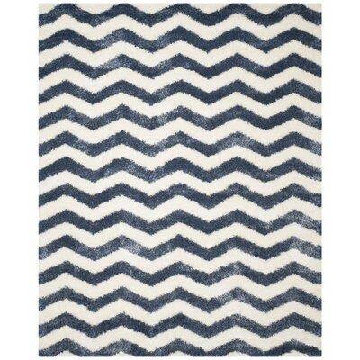 Kimberley Ivory/Blue Area Rug Rug Size: Rectangle 67 x 96