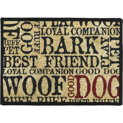 Dog Word Cloud Doormat Rug Size: 11 x 17