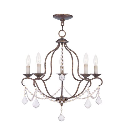 Kendrick 5-Light Candle-Style Chandelier Finish: Venetian Golden Bronze