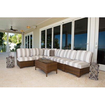 Panama Jack Patio 7 Piece Sectional Seating Group with Cushion