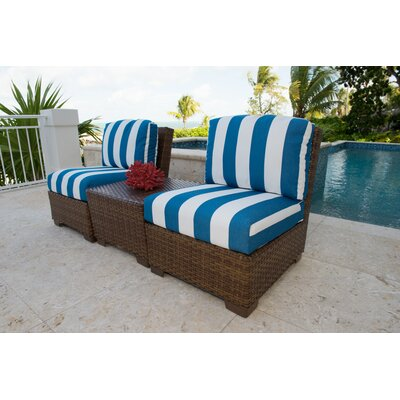 Panama Jack Patio 3 Piece Sectional Seating Group