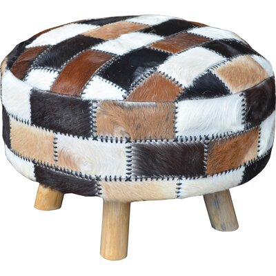 Patches Leather Ottoman
