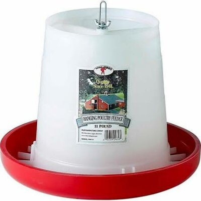 Plastic Hanging Poultry Feeder Size: 11 lbs