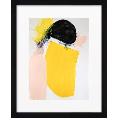 Yellow September Framed Giclee Print, Artfully Walls Size: 18 H x 15 W
