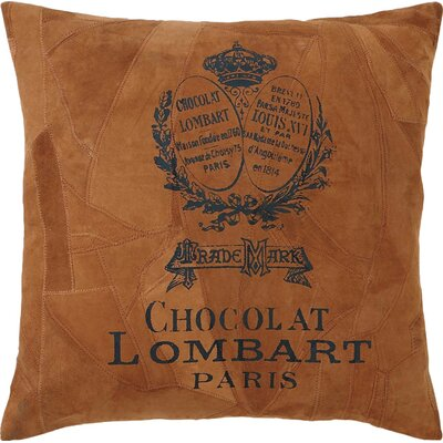 Lombart Leather Throw Pillow