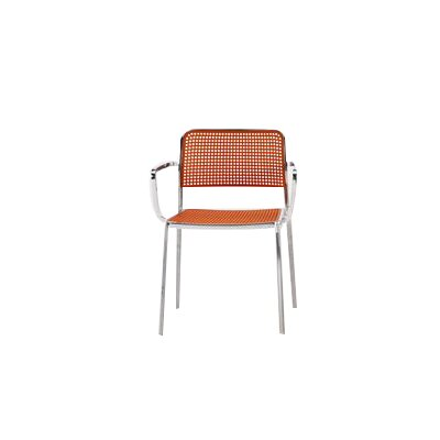 Audrey Armchair (Set of 2) Finish: Aluminum/Orange