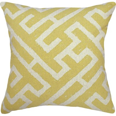 Lari Linen Throw Pillow Color: Yellow