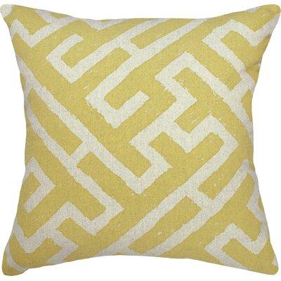 Lari Linen Throw Pillow Color: Yellow
