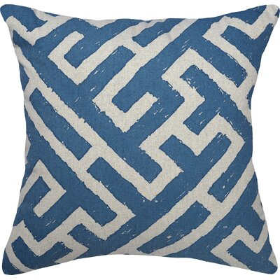 Lari Linen Throw Pillow Color: Blue