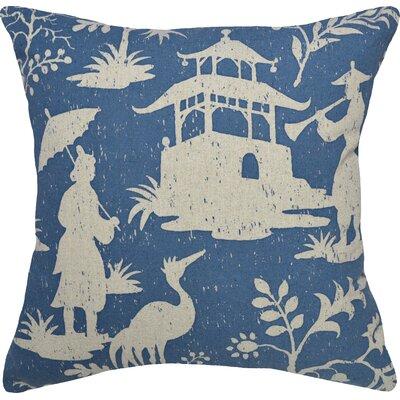 Chinoiserie Linen Throw Pillow