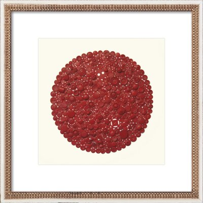 Red Target Framed Print, Artfully Walls red_target_etr_whitedoublebead_8x8