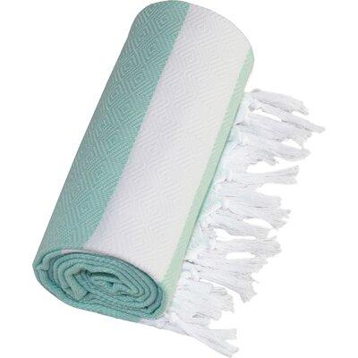 Diamond Fouta Towel in Soft Aqua