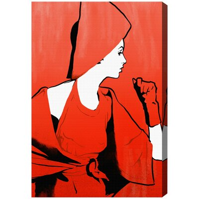 Glam Dame Painting Print on Wrapped Canvas Size: 15