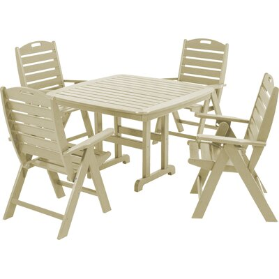 Nautical 5 Piece Patio Dining Set