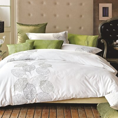 Turning Leaf 3 Piece Duvet Set Size: King