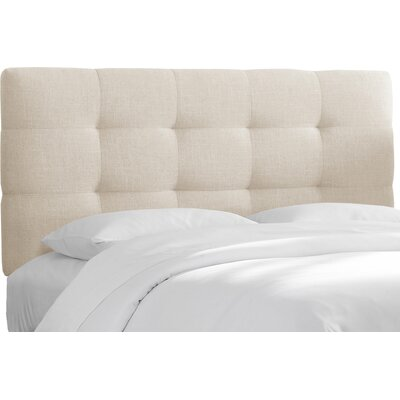 Tanner Linen Upholstered Headboard Size: King