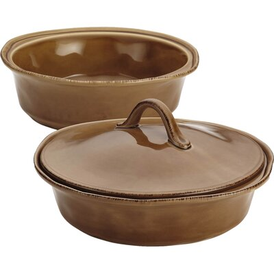 3-Piece Stoneware Casserole Set in Mushroom Brown by Rachael Ray 57431
