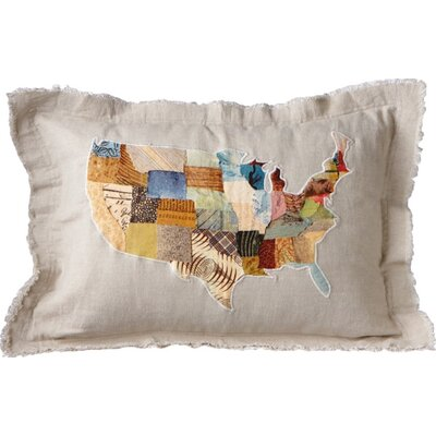 USA Collage Collage Cotton Pillow (Set of 2)