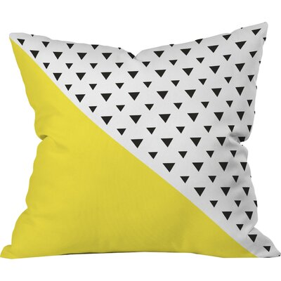 Chartreuse n Triangles Outdoor Throw Pillow Size: 16