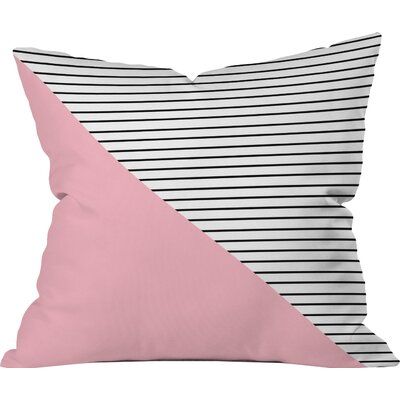 Pink n Stripes Outdoor Throw Pillow Size: 16 H x 16 W
