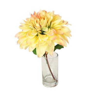 Peach Dahlia Water Vase