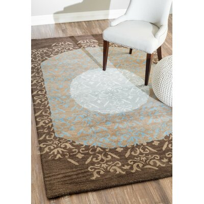 Royce Hand Tufted Coffee Area Rug Rug Size: Rectangle 76 x 96